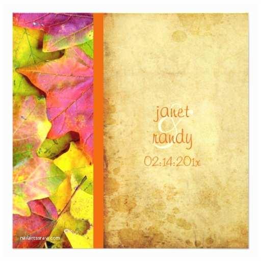 Rainbow Wedding Invitations Rainbow Fall Wedding Invitations