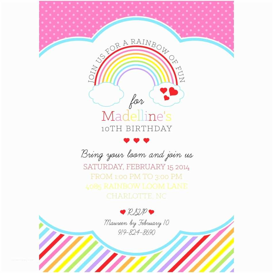 Rainbow Wedding Invitations Rainbow Invitation Template