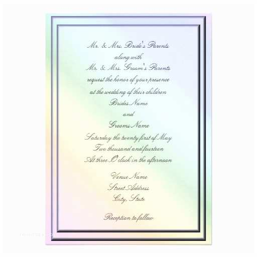 Rainbow Wedding Invitations Rainbow theme Invitations 475 Rainbow theme Invites