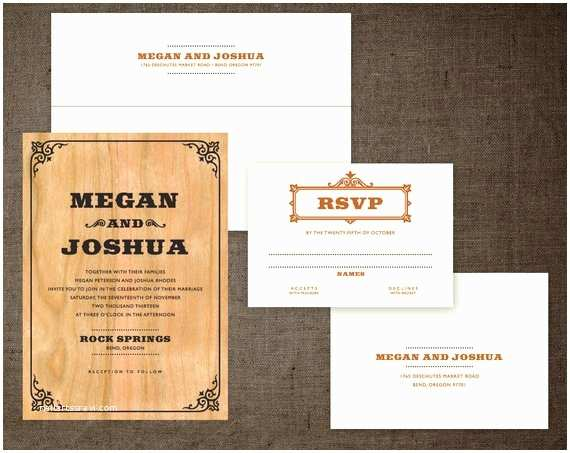 country western real wood wedding
