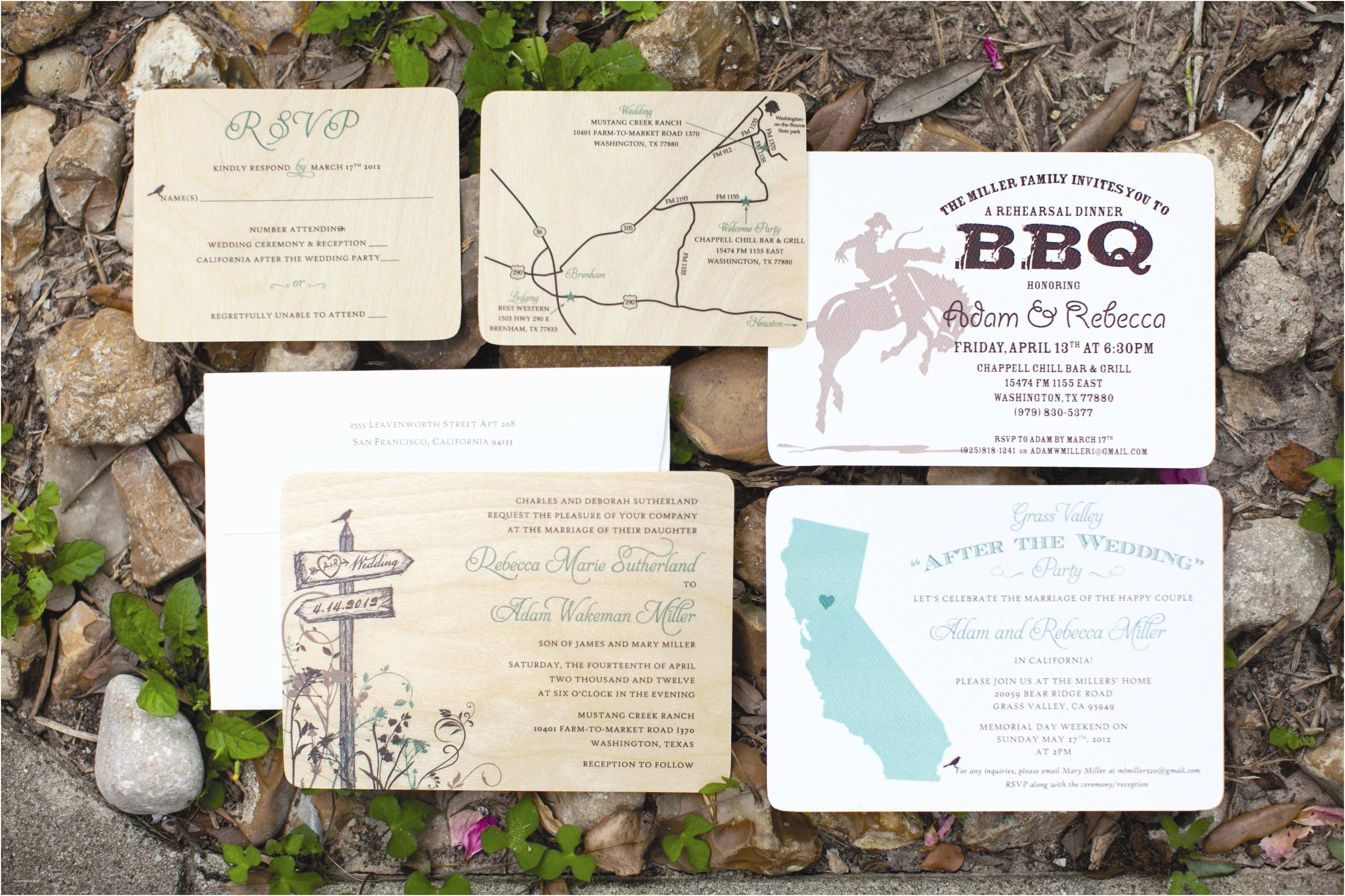 Ranch Wedding Invitations Ranch themed Invitations