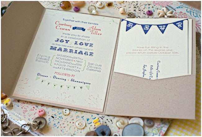 Ranch Wedding Invitations Real Wedding Courtney Adam's Rainy Diy Ranch Wedding
