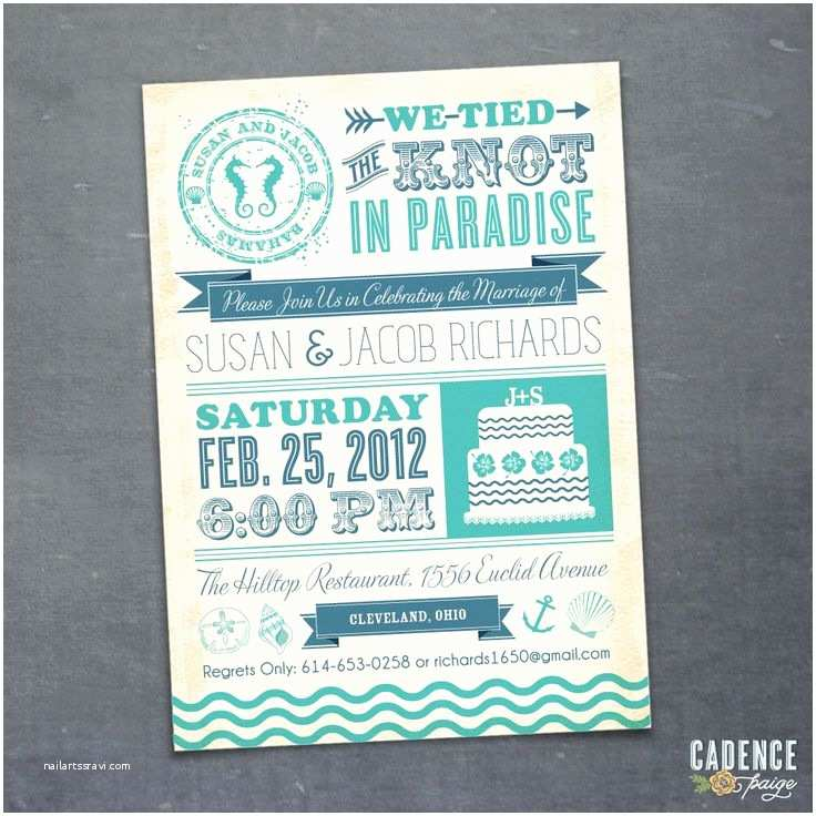 Reception Invites after Destination Wedding Casual Reception Invitation Wording