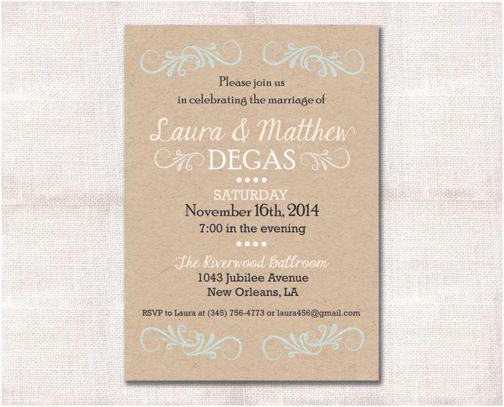 Reception Invites After Destination Wedding Wedding Reception Invitation