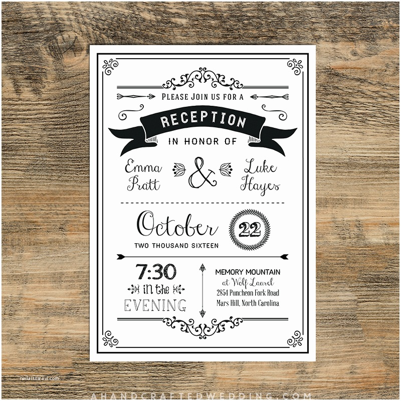 wedding reception only invitation wording samples
