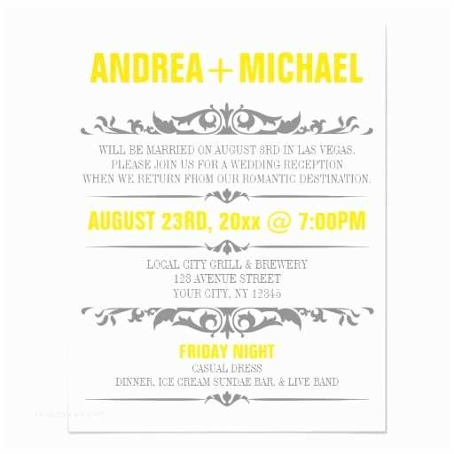 Reception Only Wedding Invitations Wedding Reception Ly Invitation