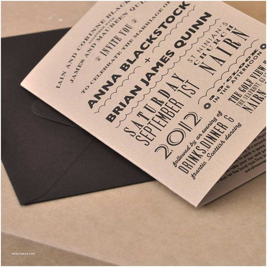 Rectangle Wedding Invitations Brown Wedding Invitations Rectangle Potrait Black