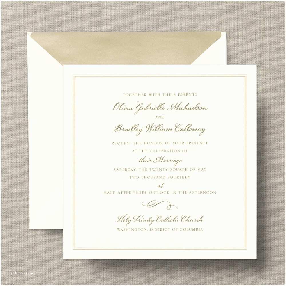 Rectangle Wedding Invitations Ecru Square Pearl Band – Wedding Invitations – Custom