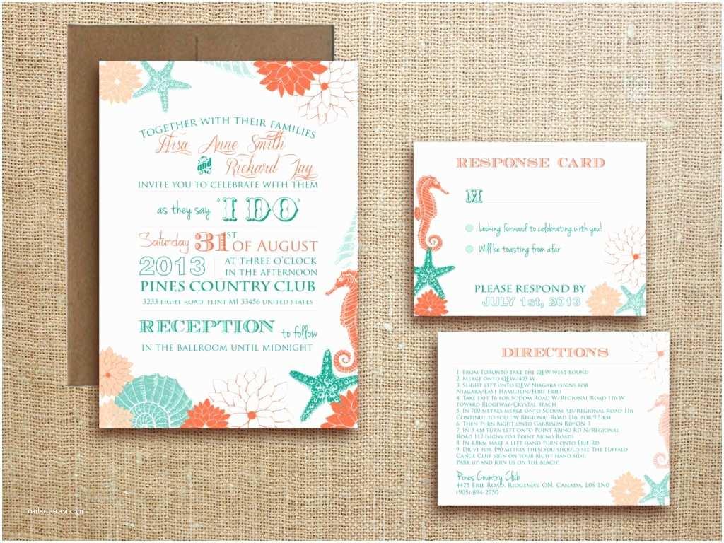 Rectangle Wedding Invitations Tropical Wedding Invitation Rectangle Potrait White