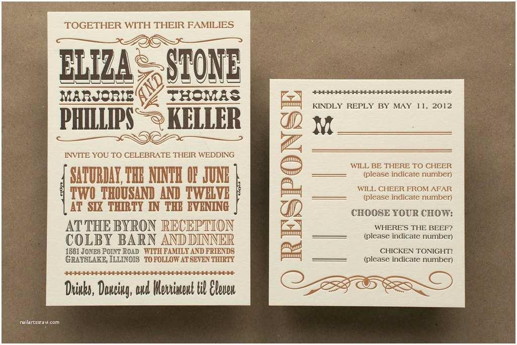 Rectangle Wedding Invitations Western Wedding Invitation Rectangle Potrait Ivory Casual