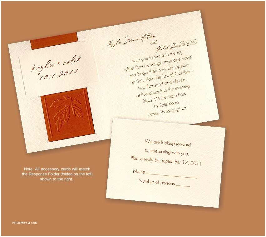 Recycled Paper Wedding Invitations Acer Leaf Recycled Paper Wedding Invitation
