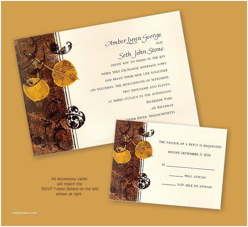 Recycled Paper Wedding Invitations Autumn aspens Recycled Paper Wedding Invitation