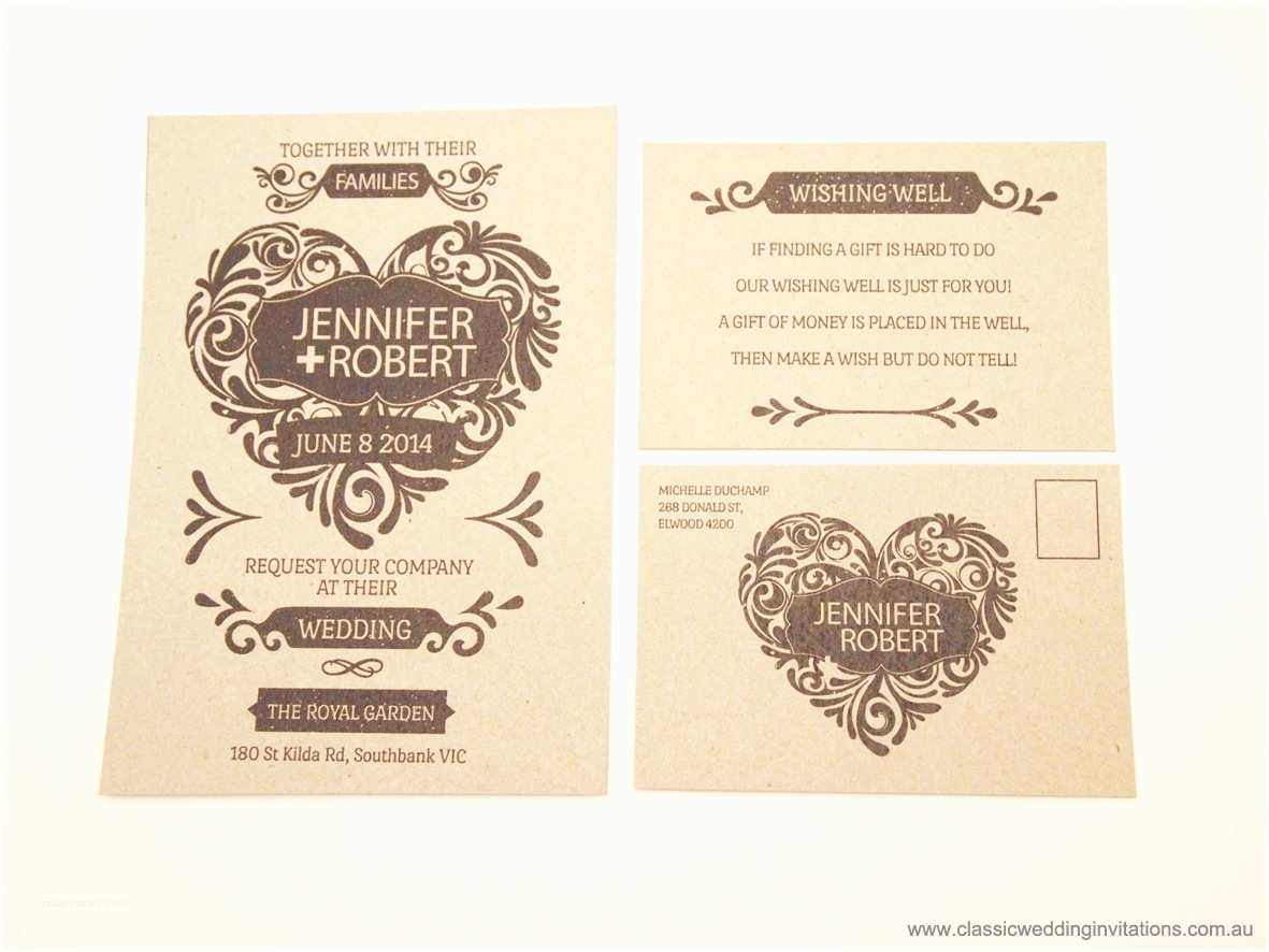 Recycled Paper Wedding Invitations Classic Wedding Invitations Romeo and Juliette Recycled