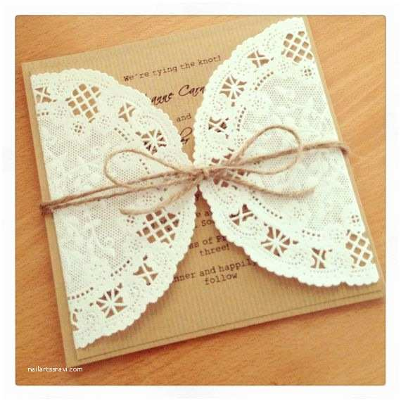 Recycled Paper Wedding Invitations Dolly Wedding Invitation Lace Wedding Invitation