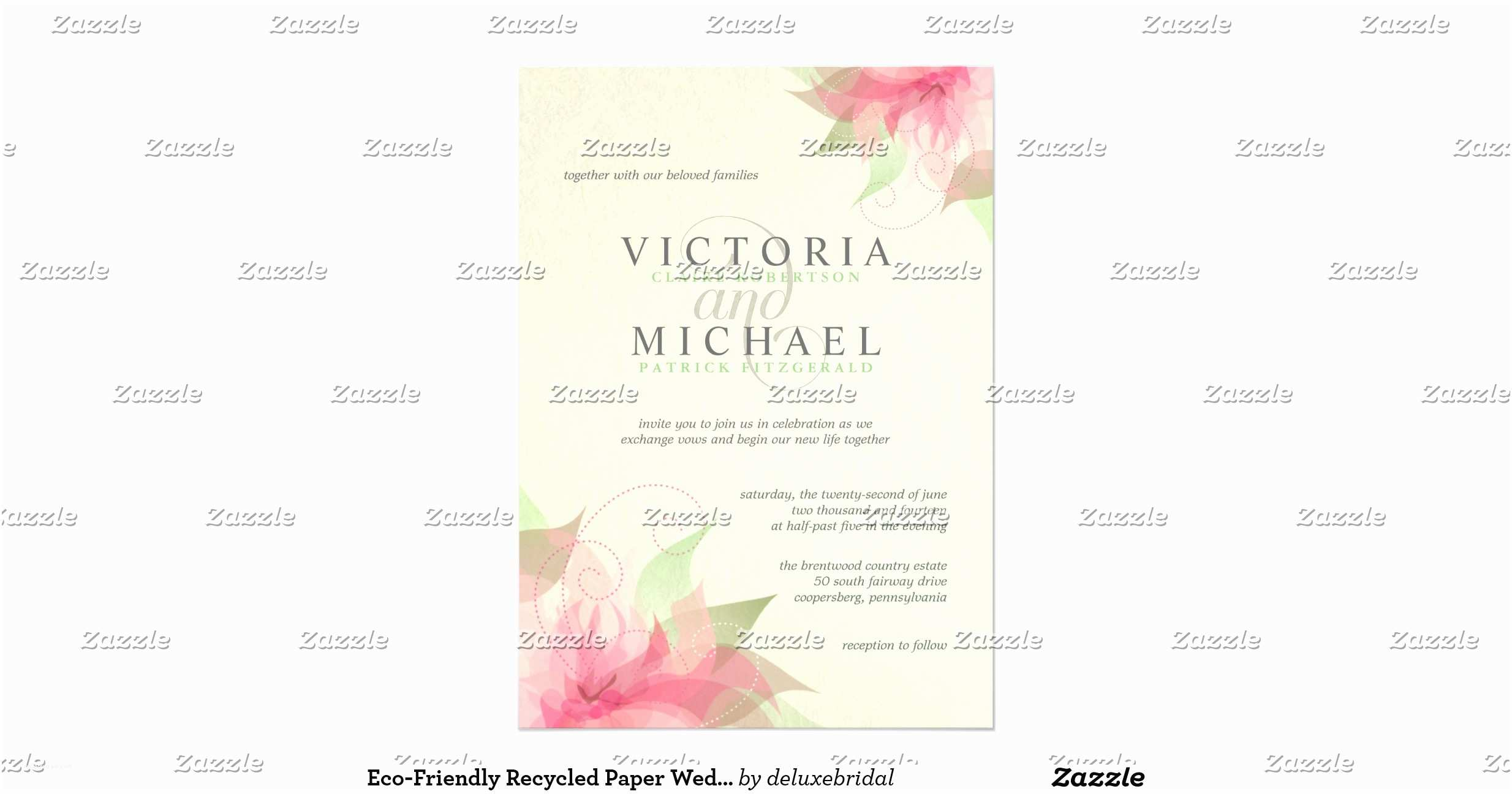 Recycled Paper Wedding Invitations Eco Friendly Recycled Paper Wedding Invitations
