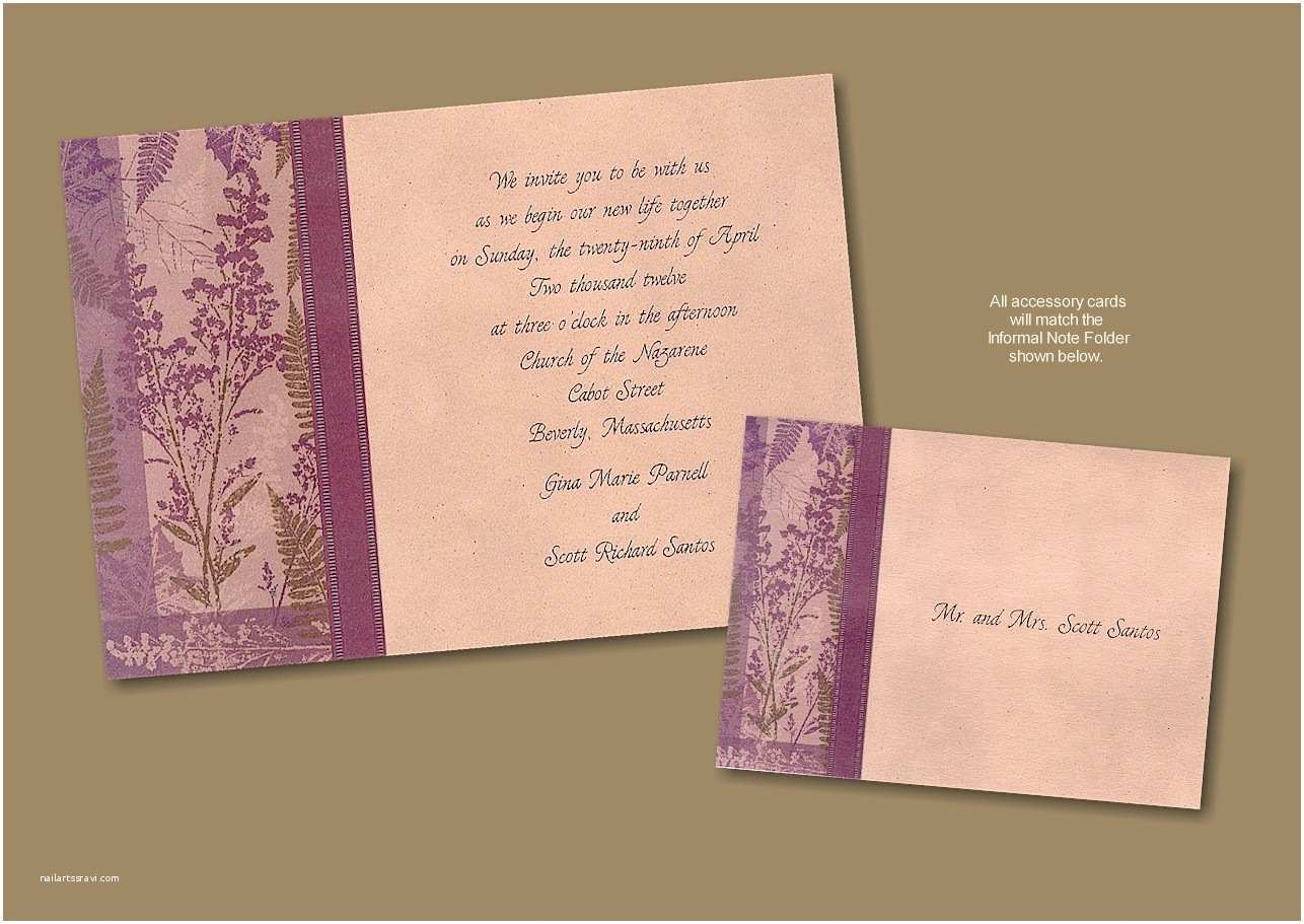 Recycled Paper Wedding Invitations Meadow Recycled Paper Wedding Invitation