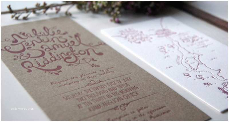 Recycled Paper Wedding Invitations Natalie Sam S Hand Lettered Chipboard Wedding Invitations