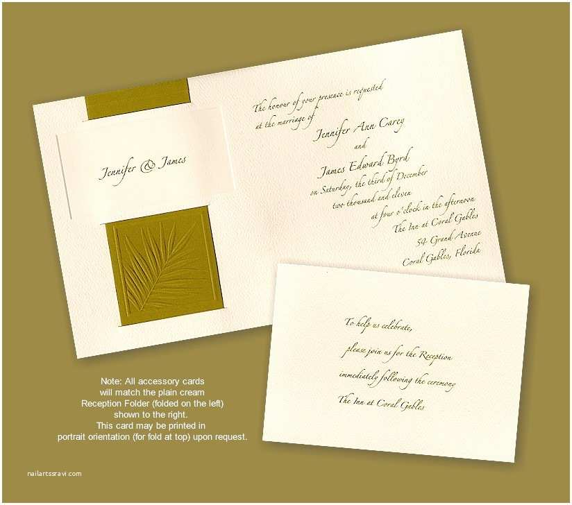 Recycled Paper Wedding Invitations Palm Recycled Paper Wedding Invitation