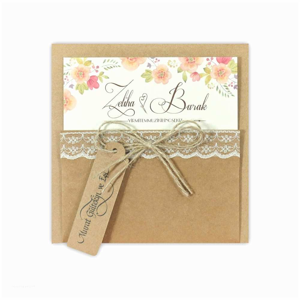 Recycled Paper Wedding Invitations Recycled Paper with Lace and Floral Design Wedding