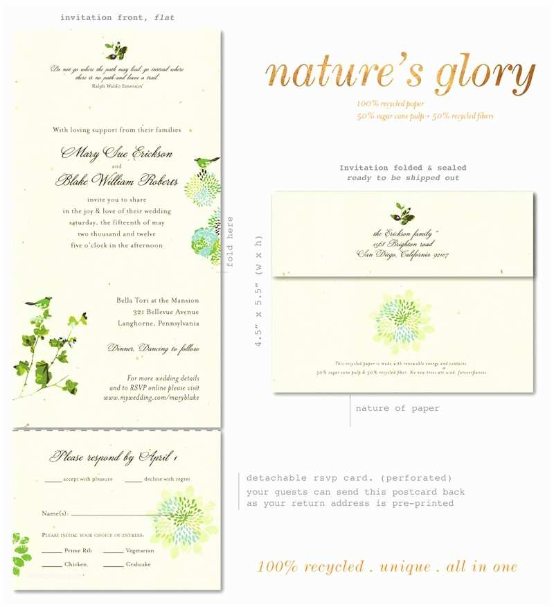 Recycled Paper Wedding Invitations Send N Sealed Wedding Invitations On Recycled Paper