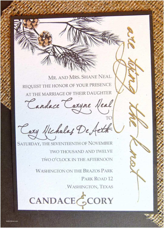 Recycled Paper Wedding Invitations Wedding Invitation – Rustic Elegance Recycled Paper