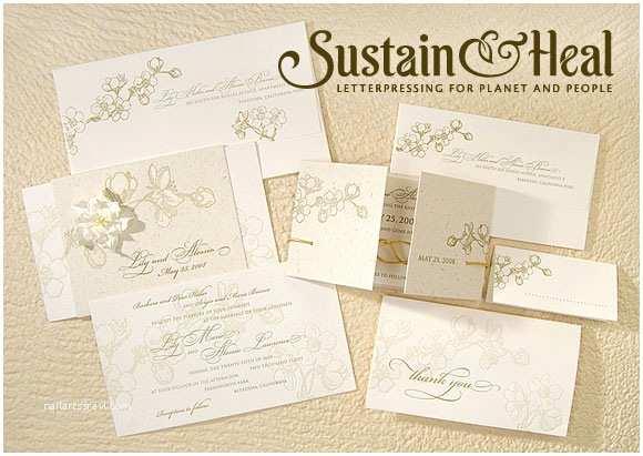 Recycled Paper Wedding Invitations Wedding Invitations