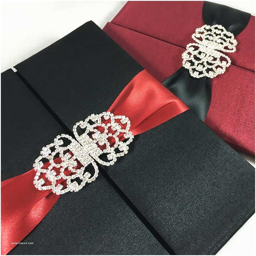 Red and Black Wedding Invitations Black & Red Wedding Announcement Invitations Luxury