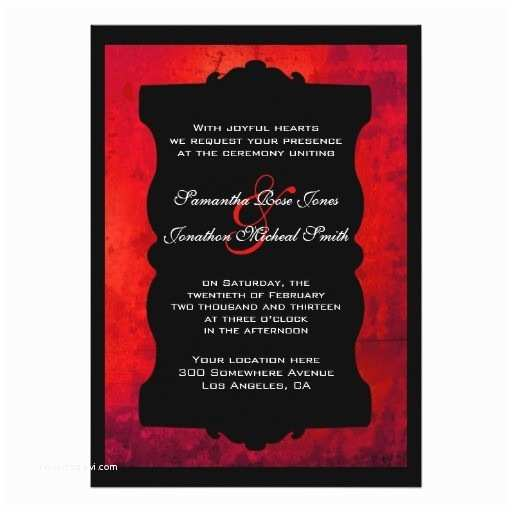 Red and Black Wedding Invitations Blank Red and Black Wedding Invitations Distressed Red
