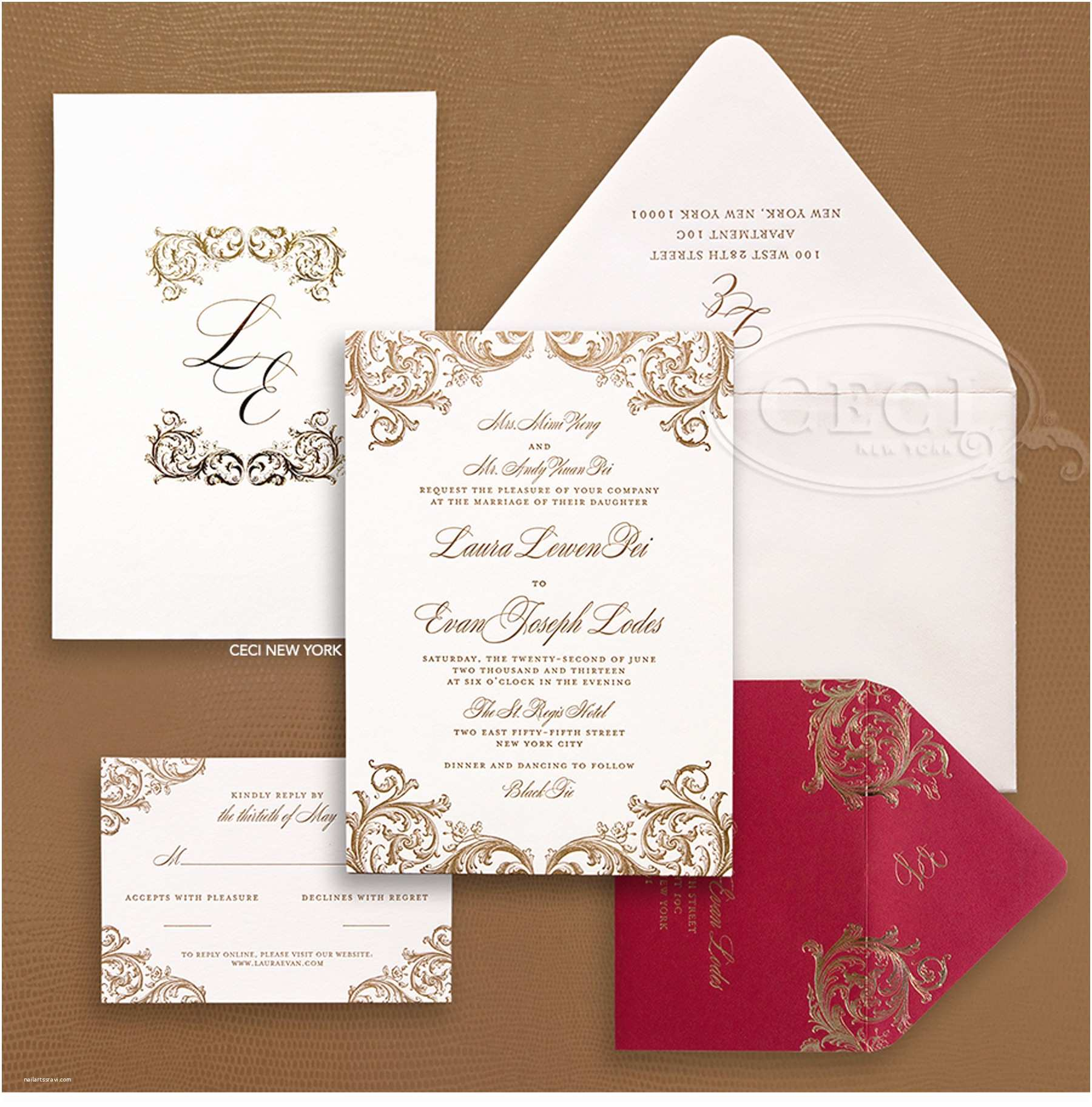 Red and Gold Wedding Invitations 10 Breathtaking Red and Gold Wedding Invitations to