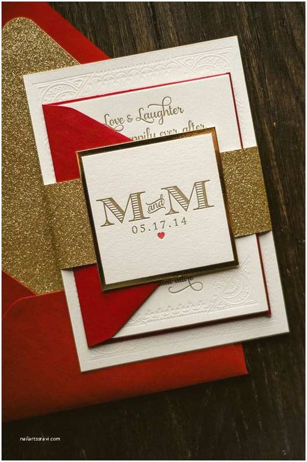 Red and Gold Wedding Invitations Trending Red White and Gold Wedding theme Ideas for 2016