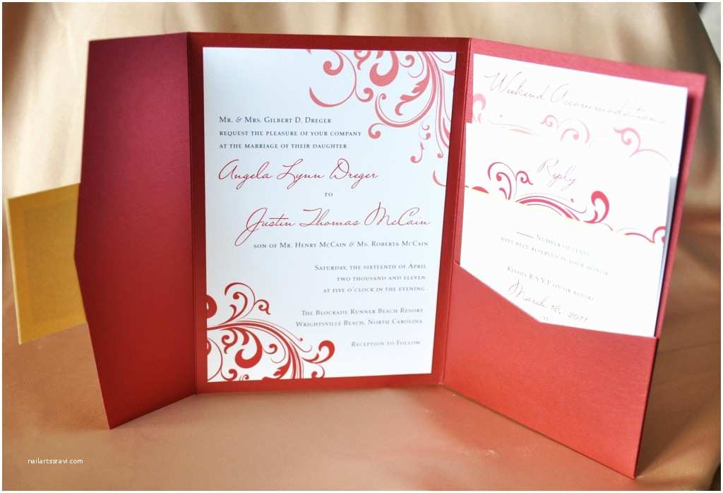 Red and White Wedding Invitations Jaw Dropping Red Wedding Invitations