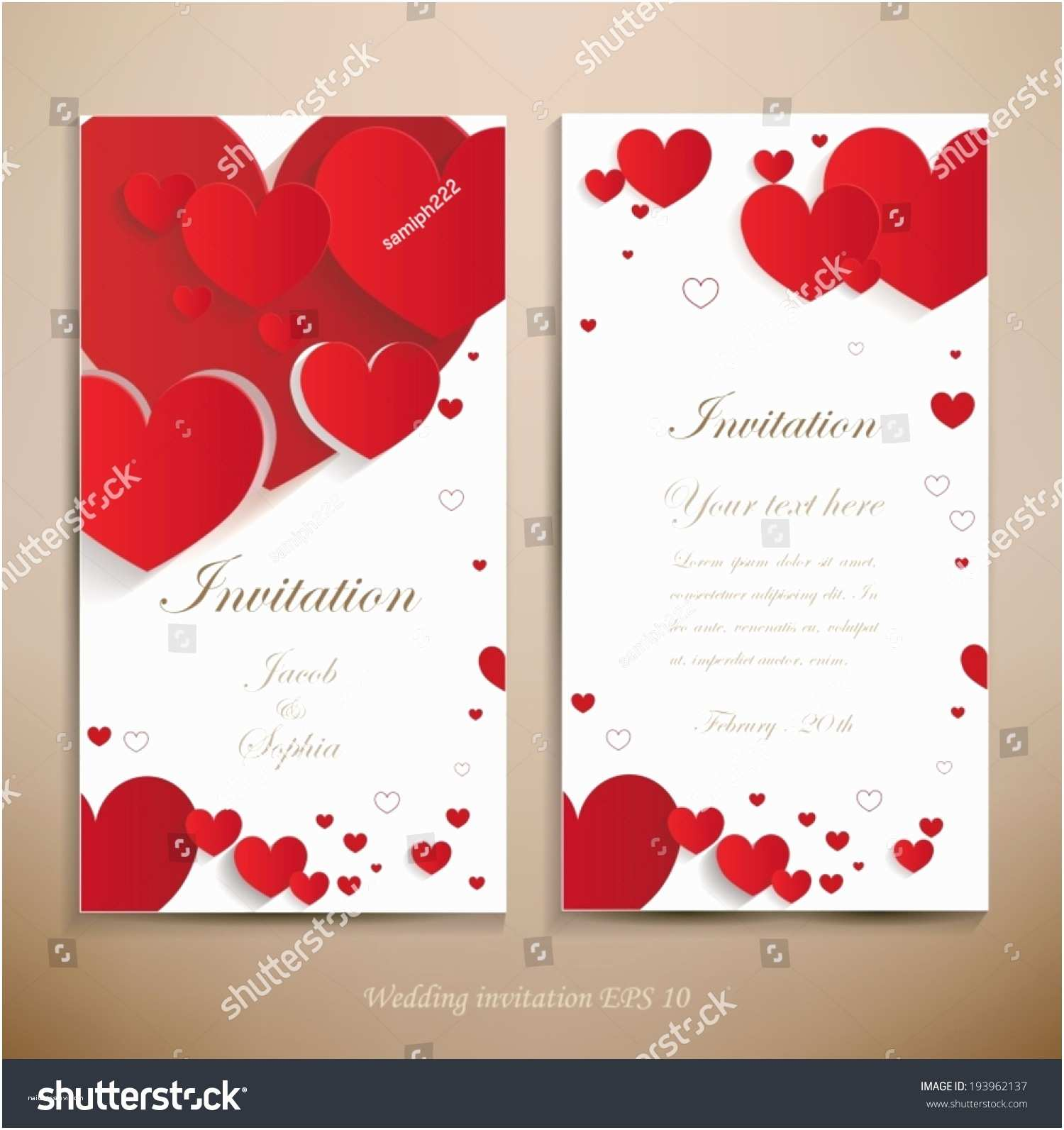 Red and White Wedding Invitations Lovely Wedding Invitation A Beautiful Wedding Invitation