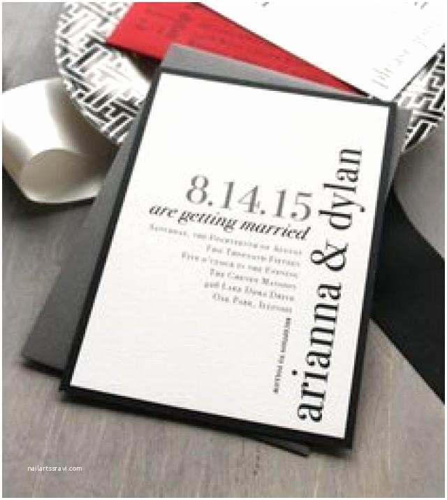 Red and White Wedding Invitations Modern Wedding Invitations Wedding Invitation Urban Chic