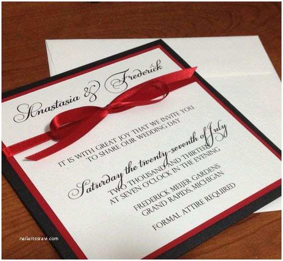 Red Black and White Wedding Invitations 25 Best Ideas About Black Red Wedding On Pinterest