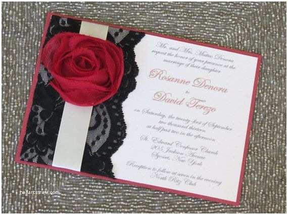 Red Black and White Wedding Invitations Lexy Red Black and White Wedding Invitations