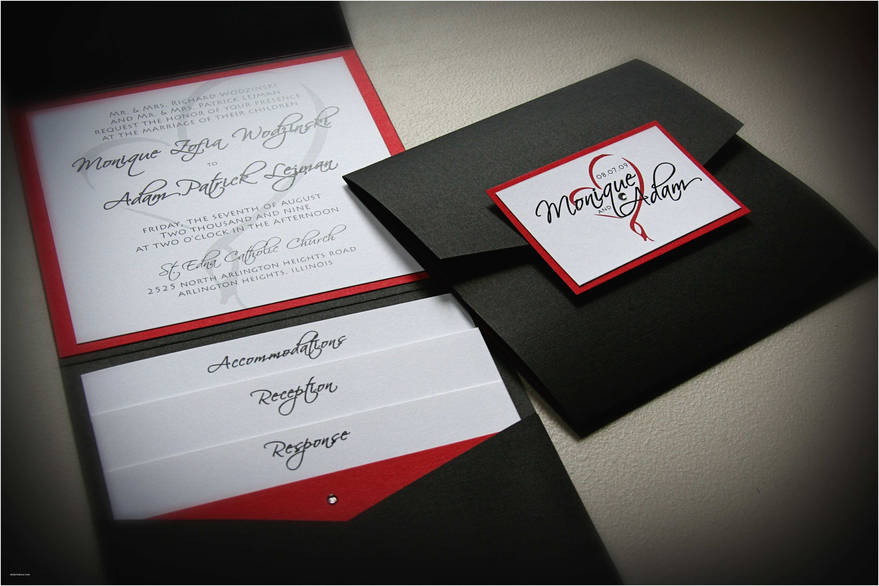 Red Black and White Wedding Invitations M Avendors Just Invite Me Project Wedding