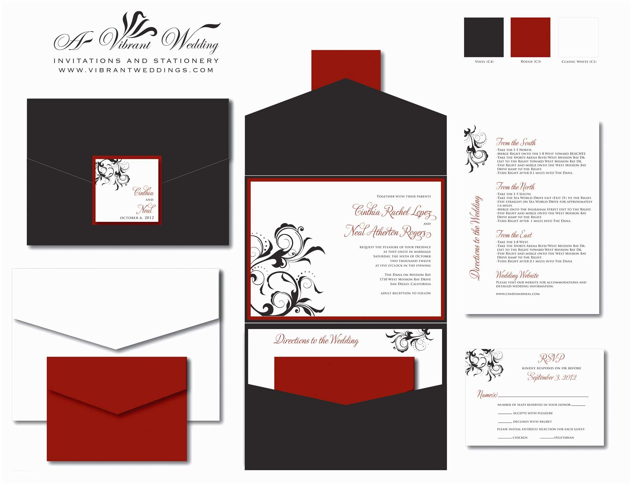 Red Black and White Wedding Invitations Red Wedding Invitation – A Vibrant Wedding