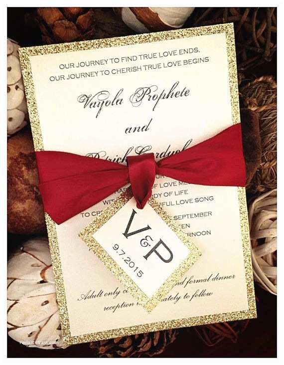 Red Ivory and Gold Wedding Invitations 25 Best Ideas About Glitter Wedding Invitations On