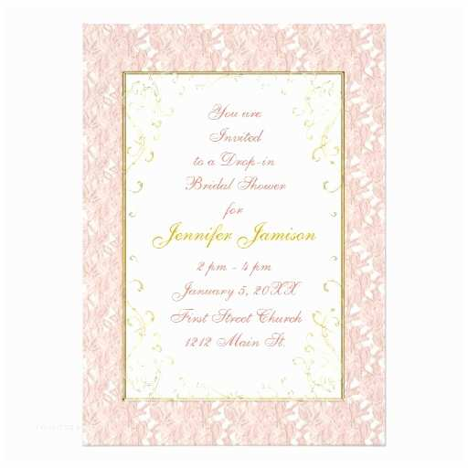 Red Ivory and Gold Wedding Invitations Bridal Shower Invitations Pink Lace Ivory Gold