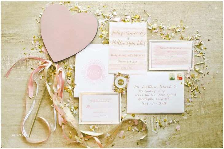 Red Ivory and Gold Wedding Invitations Romantic Pink Ivory and Gold Invitations