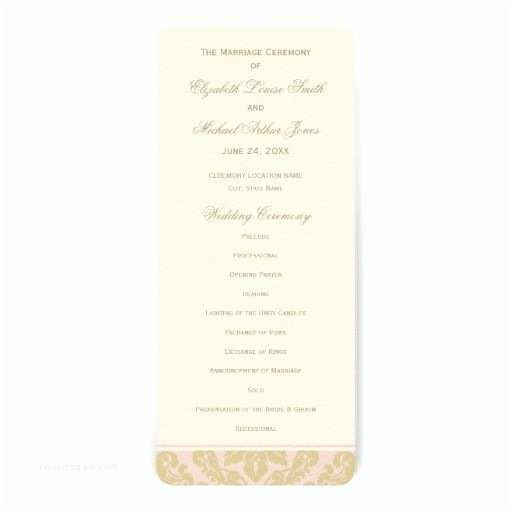 Red Ivory and Gold Wedding Invitations Wedding Ceremony Program