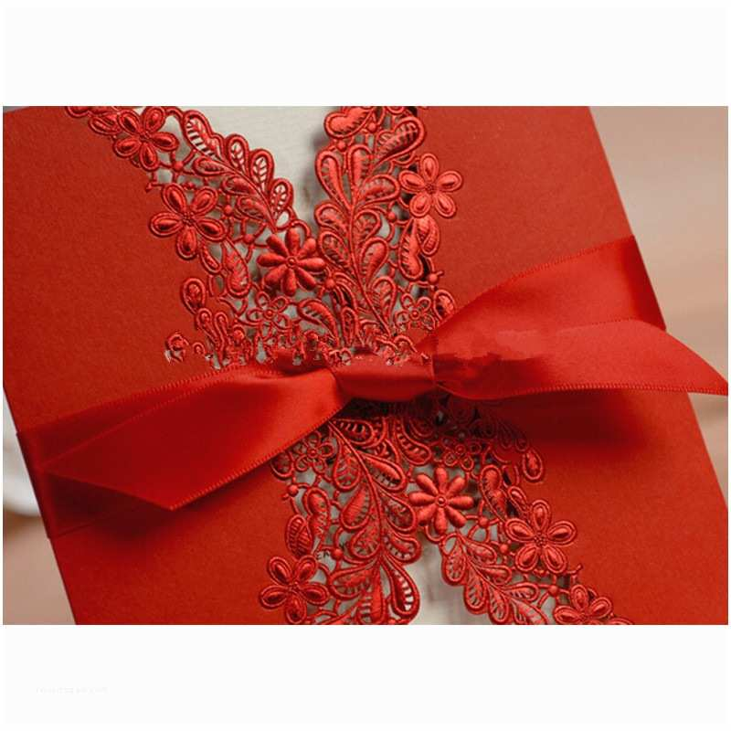 Red Laser Cut Wedding Invitations 2016 Laser Cut Lace Red Best Selling Wedding Invitations