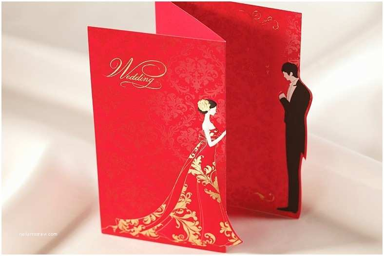 Red Laser Cut Wedding Invitations Bride and Groom Wedding Invitation – Guitarreviews