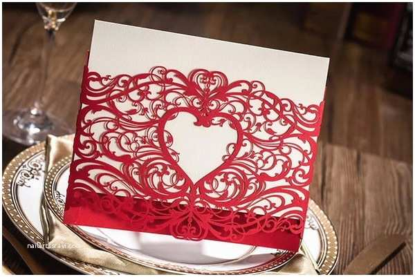 Red Laser Cut Wedding Invitations Laser Cut Wedding Invitations 15 sophisticated and