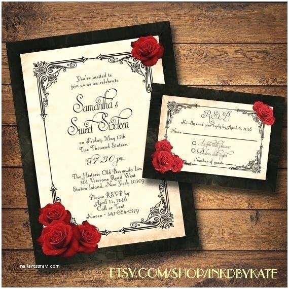 Red Rose Wedding Invitations Red Wedding Invitations and to Produce Cool Red Blank