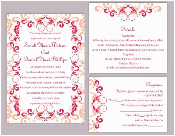 Red Wedding Invitation Templates Red Wedding Invitation Templates