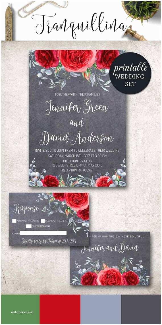 Red Wedding Invitations Best 25 Floral Wedding Invitations Ideas On Pinterest