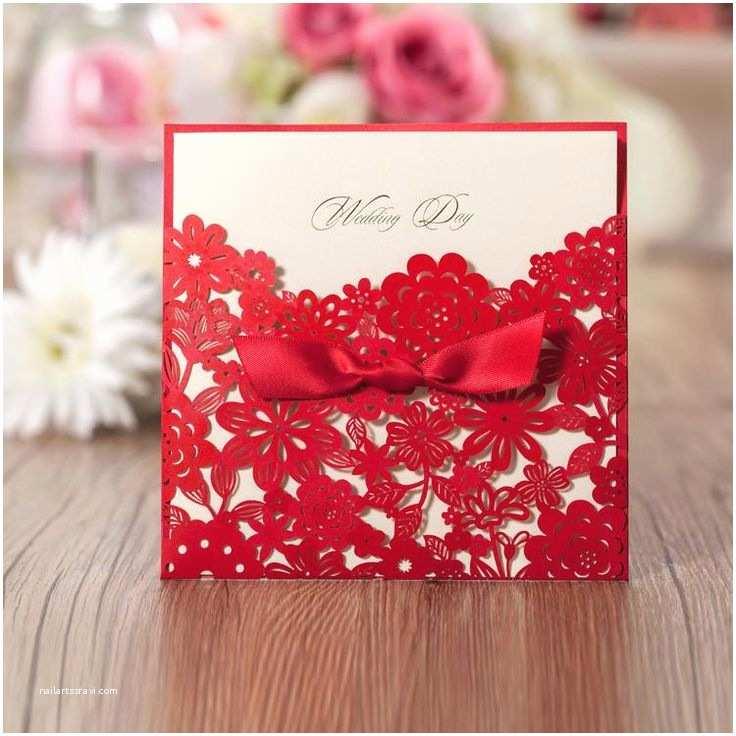 Red Wedding Invitations Elegant Red Wedding Invitations