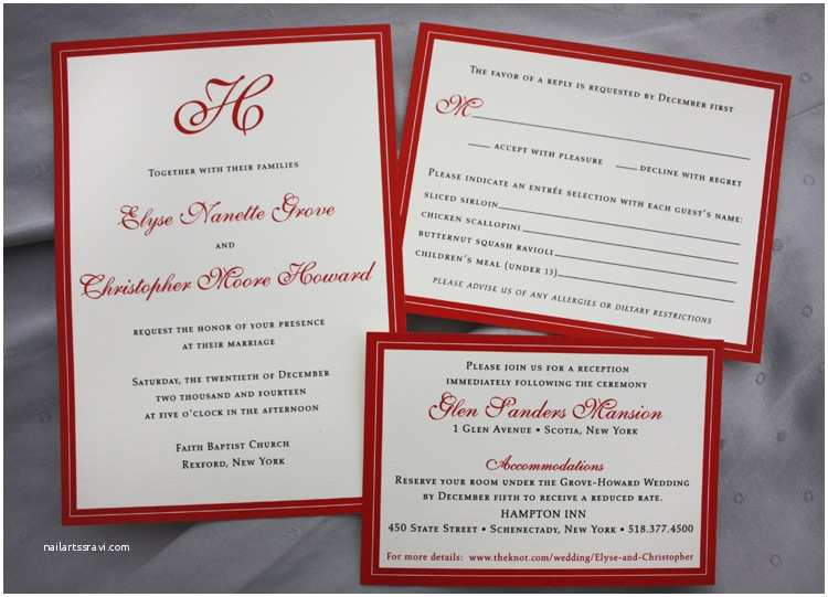 Red Wedding Invitations Pics for Red Wedding Borders for Invitations