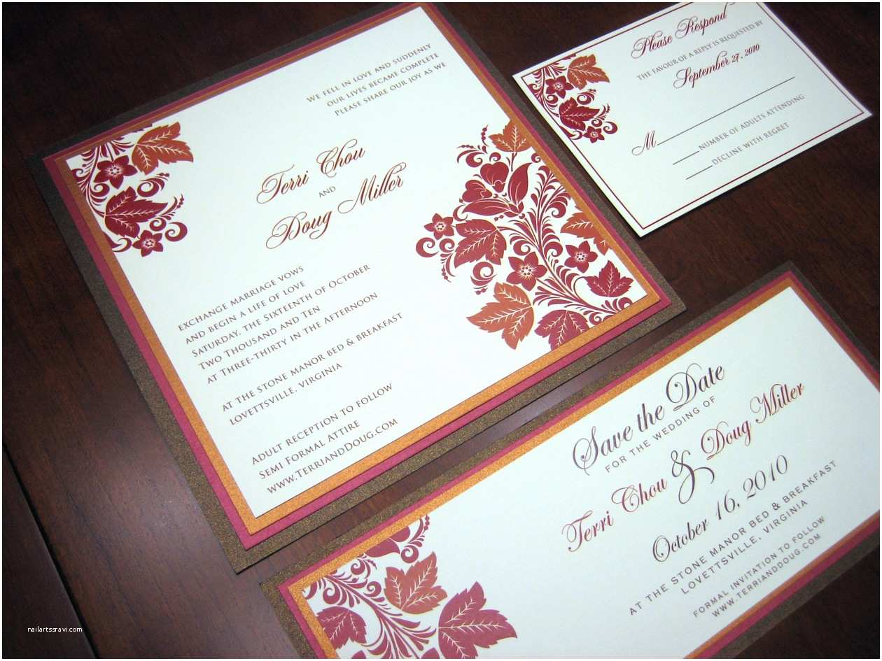 Red Wedding Invitations Red and Brown Wedding Invitation – A Vibrant Wedding